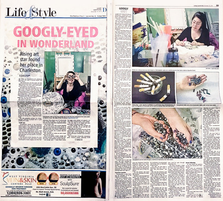 Googly-Eyed in Wonderland | Feature Story in Charleston Gazette-Mail