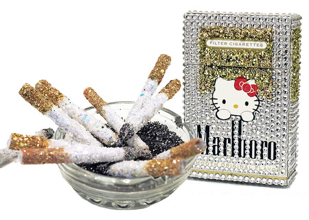 Smoking Kitty Girl + Glitter Fags Installation @ TAS Gallery