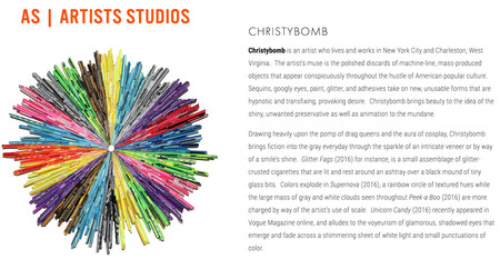 Christybomb Inducted into AS | Artists Studios