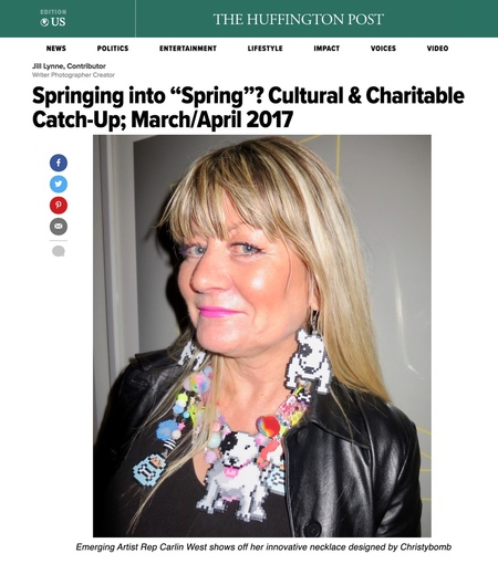 Christybomb's Collection of Wearable Art Featured in the Huffington Post!