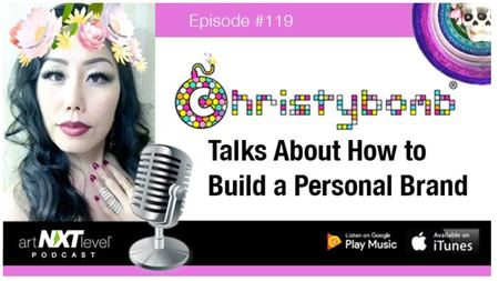 Christybomb Featured by Art NXT Level iTunes Podcast