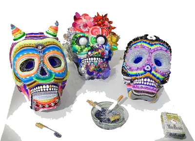 Christybomb's Sugar Skulls Steal the Show @ Sideshow Gallery in Brooklyn