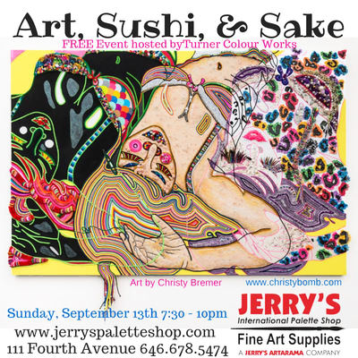"""Art, Sushi & Sake"", a Turner Colourworks Demo Featuring Christybomb"