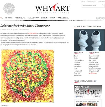 Christybomb Review By Why Art Blog in Poland