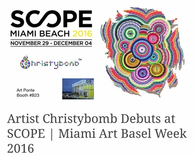 Christybomb @ SCOPE Miami Beach 2016 during Art Basel Miami